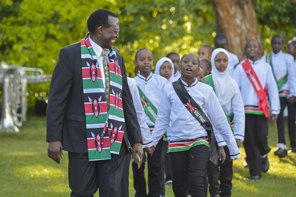Kenyan children unity march